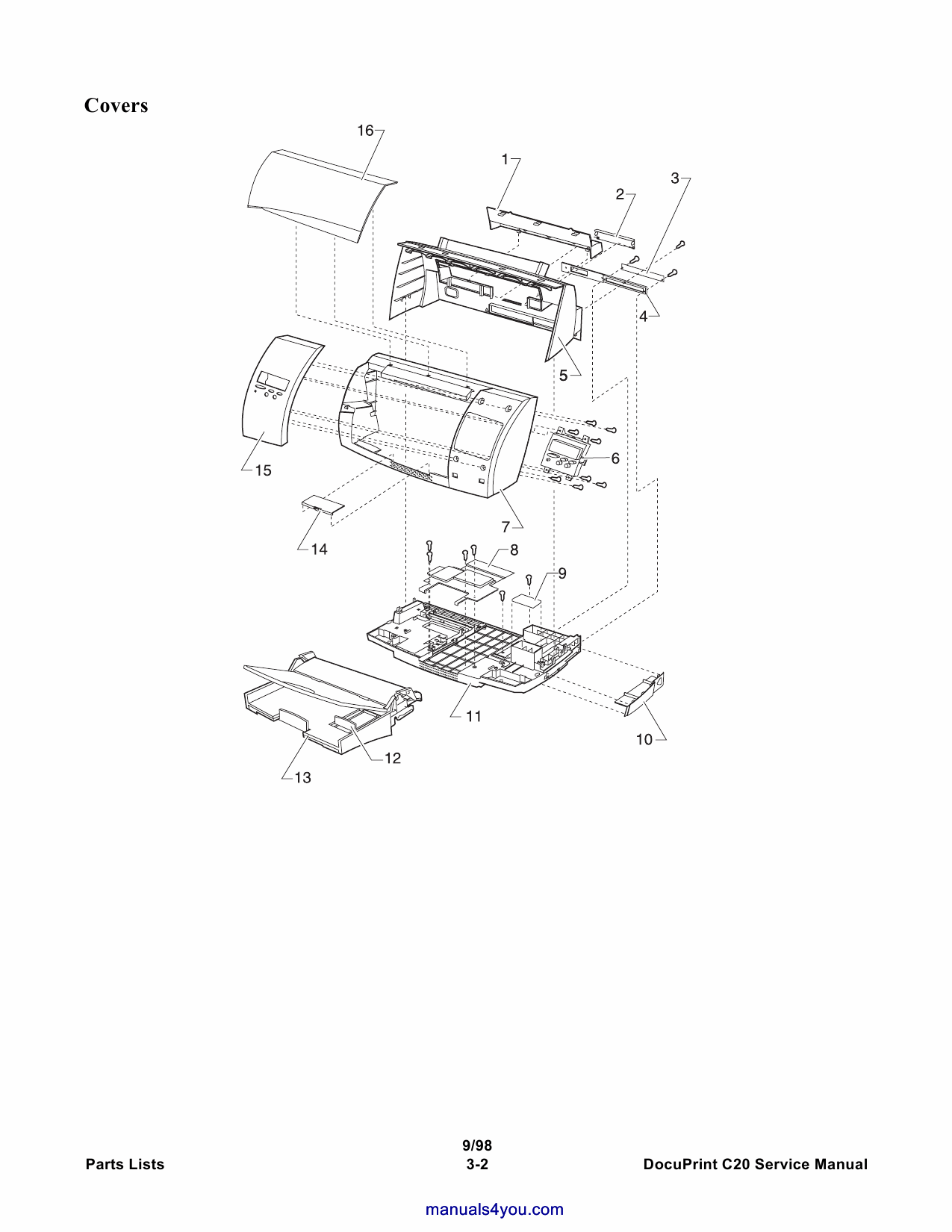 Xerox DocuPrint C20 Parts List and Service Manual-3